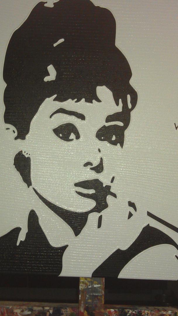 Audrey Hepburn - schilderij van Vita | Dick Vittali