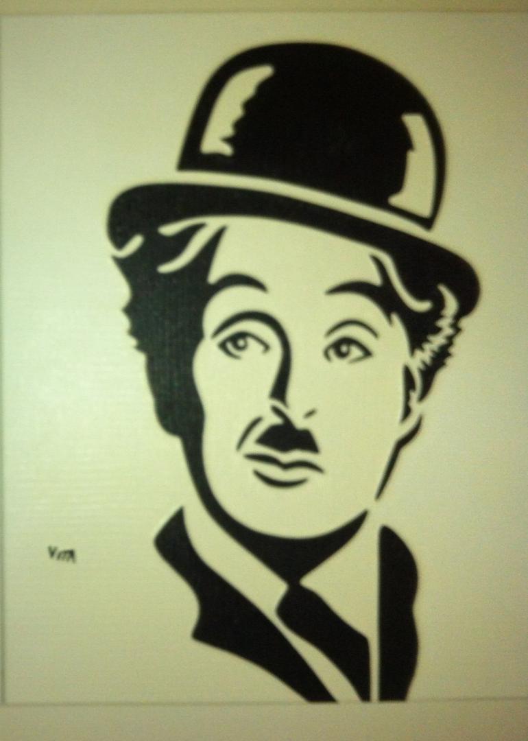 Charlie Chaplin - schilderij van Vita | Dick Vittali