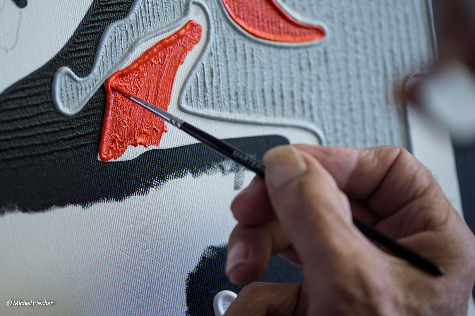 Close up detail of Vita painting
