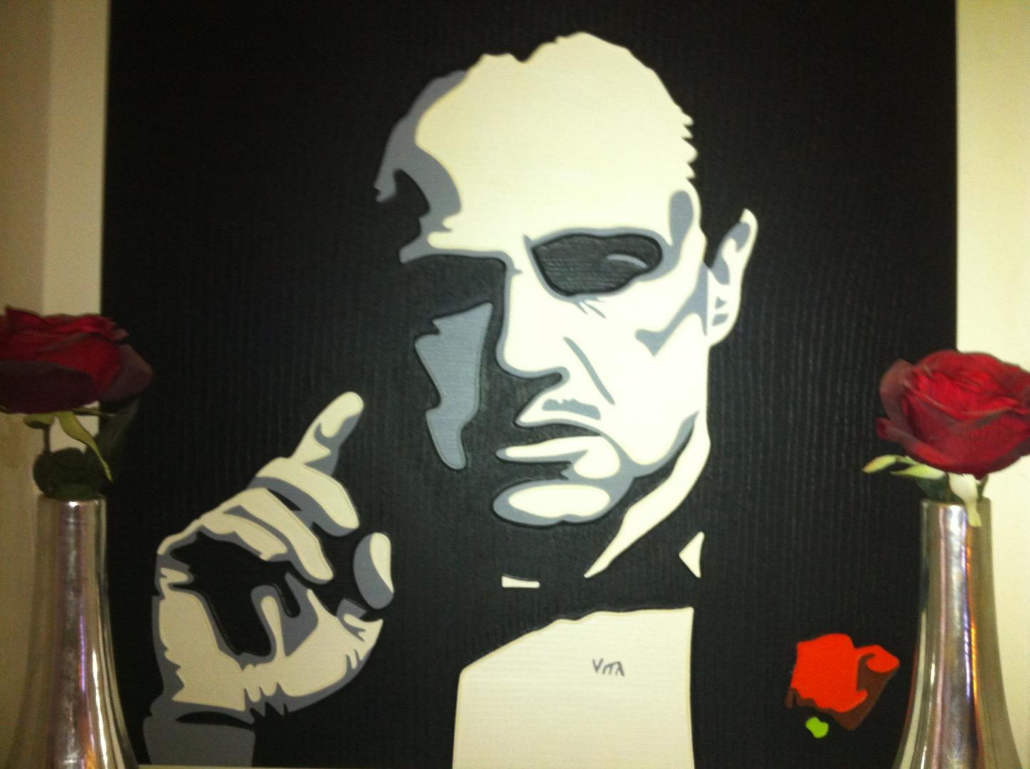 The Godfather - schilderij van Vita | Dick Vittali