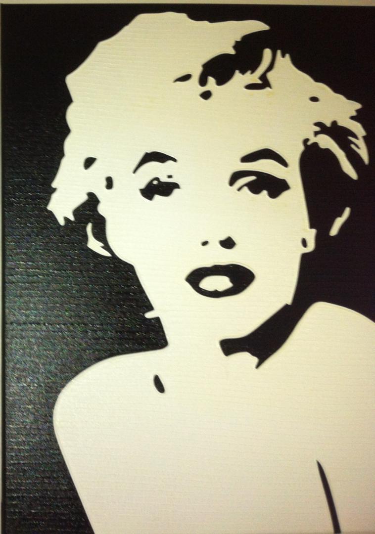 Marilyn Monroe - schilderij van Vita | Dick Vittali
