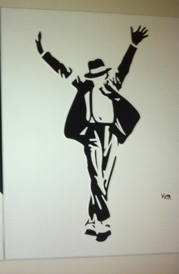 Michael Jackson - schilderij van Vita | Dick Vittali