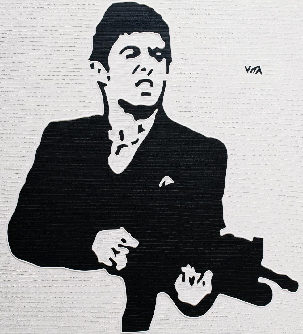 Al 'Scarface' Pacino - Painting by Vita